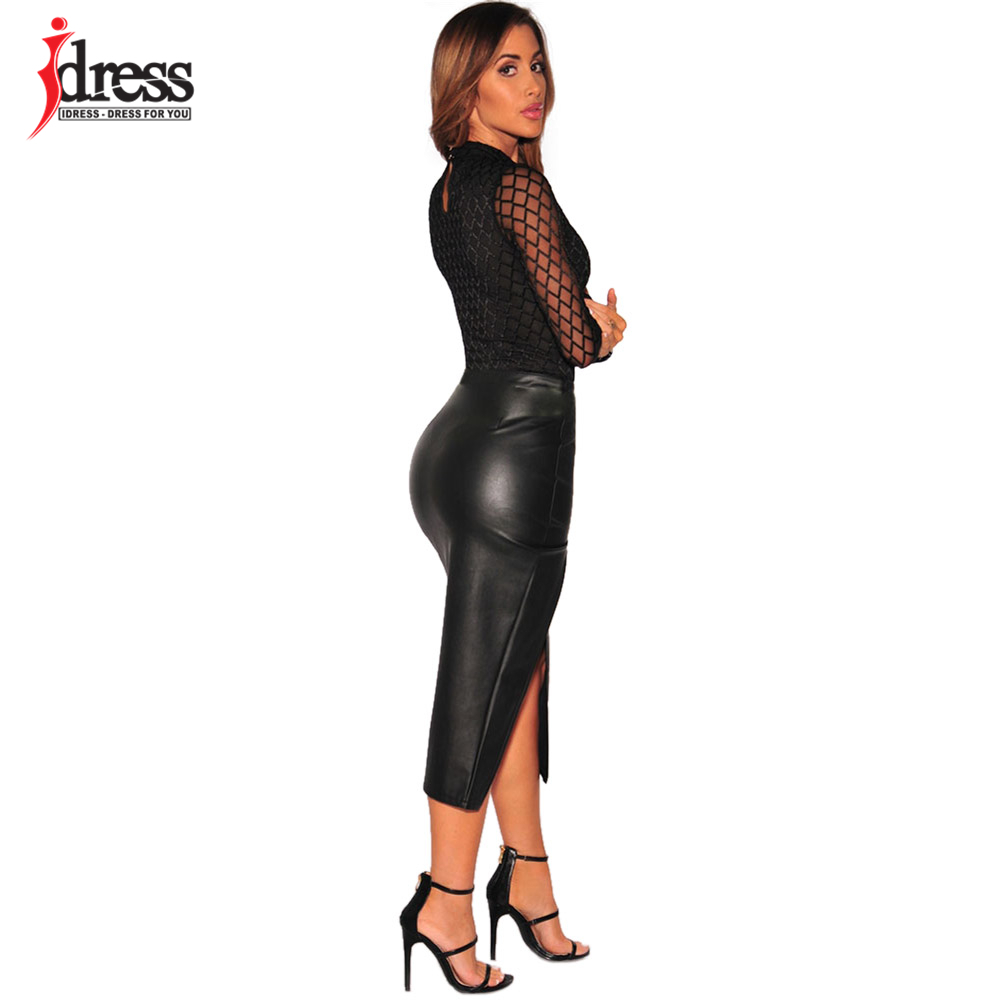 IDress 2017 New Summer Women Black Bodycon Jumpsuit Halter Sheer Mesh Bandage Bodysuit Sexy Club Jumpsuits and Rompers Sexy Body (9)
