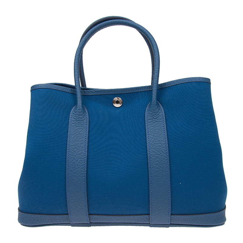 /  handbag GARDEN PARTY 30 blue EPSOM GDP30ATTCCL-BA9907