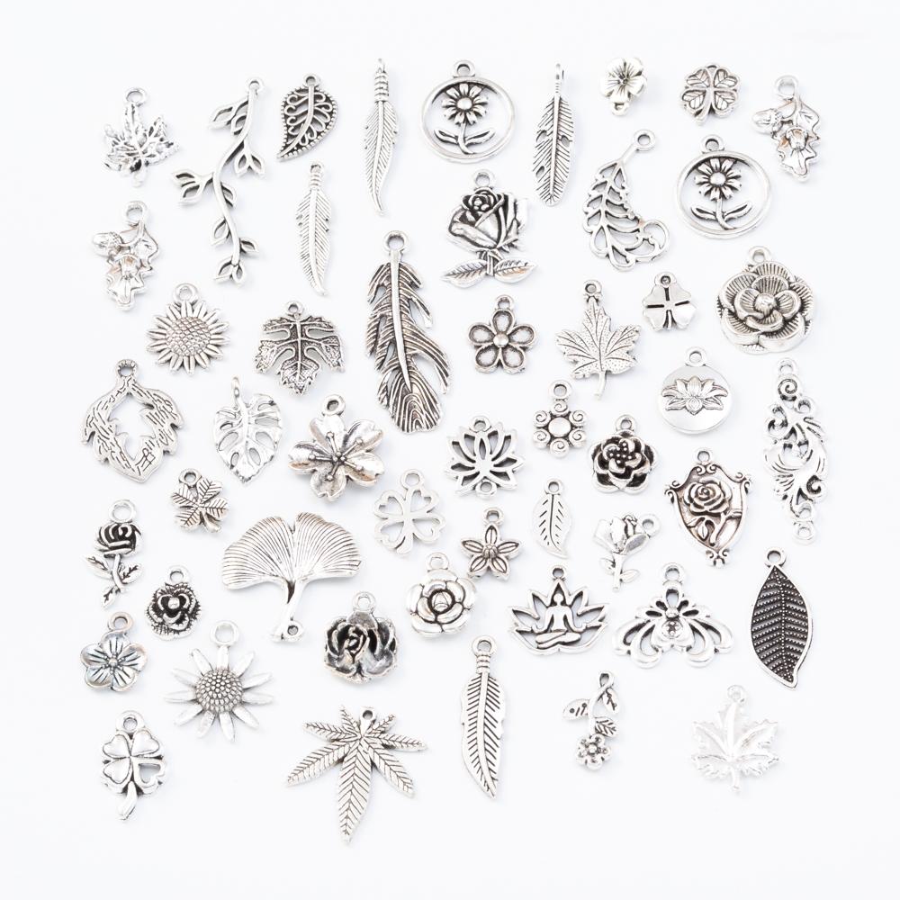 20pcs Tibetan Silver leaves Charm pendant H0789