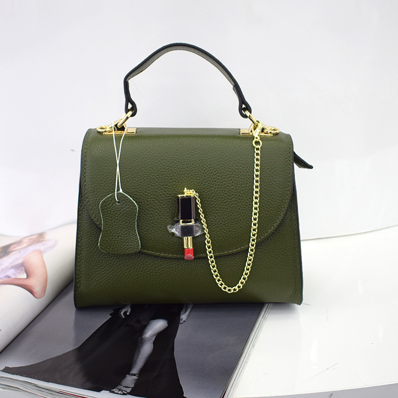 Charm2019 Leather Pattern Package European Demeanour Single Shoulder Portable Cowhide Lipstick Woman Report Goods In Stock Generation Hair