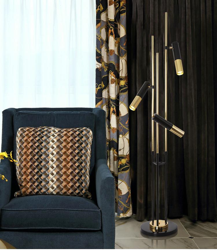 Post Modern E14 Floor Lamp Bedroom Restaurant Nordic Frosted Stained LED Tripot Floor Light Standing Light Living Room Fixtures