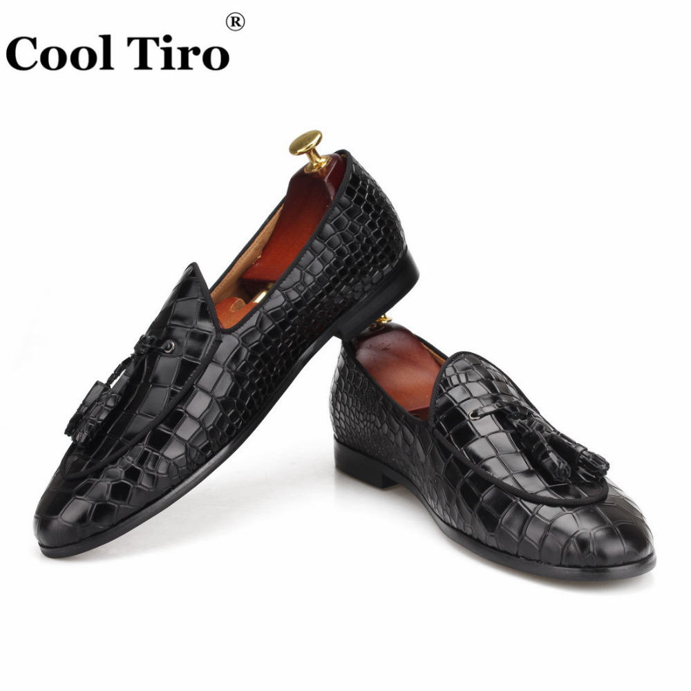 black CROCODILE LOAFERS WITH TASSELS (6)