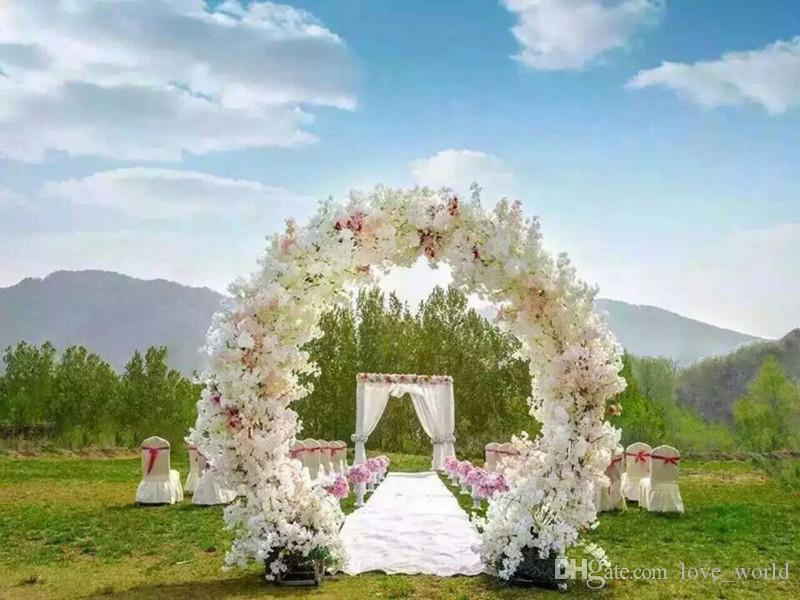 Long Wedding Cherry Blossom Flower Branches Bouquet Simulation Cherry Blossom 1m 39