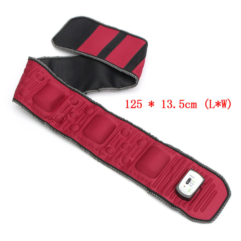 Electric Abdominal Tummy Slimming Massage Belly Belt Fat Burner Lose Weight Fitness Waistband Muscle Stimulator Red Health Care Y181122