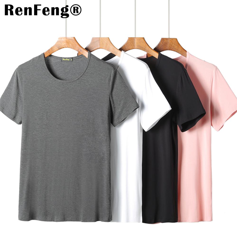 2018 Cool T Shirt Men 95% Bamboo Fiber Hip Hop Basic Blank White T-shirt For Mens Fashion Tshirt Summer Top Tee Tops Plain Black (3)