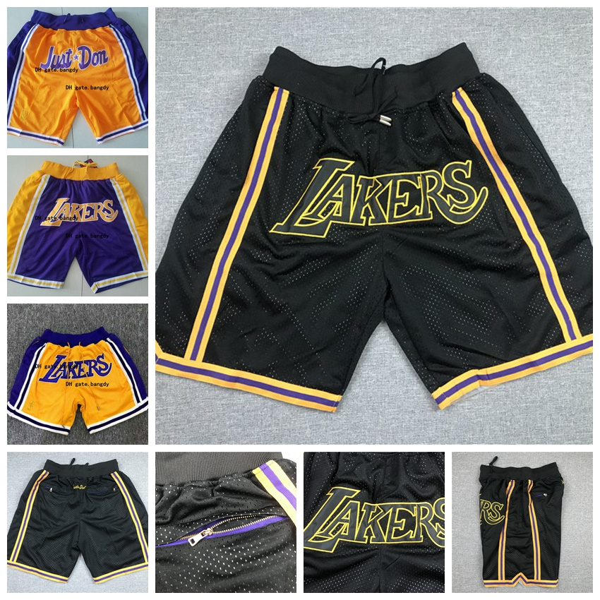 Summer Street Quick-Drying Wear-Resistant Fabric Casual Shorts 23 Basketball Shorts Suitable for Lakers James No Mens Basketball Game Shorts