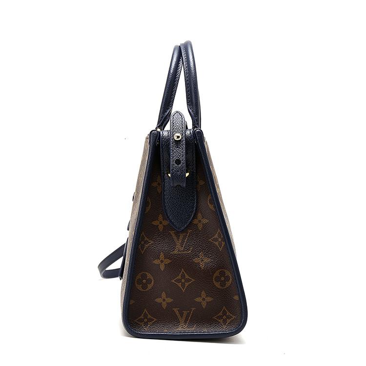/  POPINCOURT shoulder bag, old flower blue, portable, blue M43434