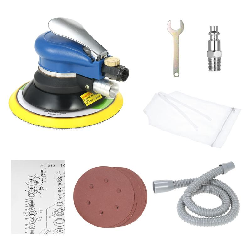6-inch Air Sander, high quality pneumatic sander with vacuum of 150 mm 6-inch Air Sander pneumatic tools