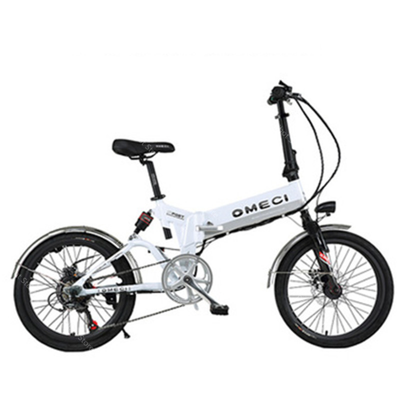 20 Inch Folding Electric Bicycle 2 Wheels Electric Bicycles Spoke Wheel Mini Lightweight Electric Bikes Adults 350W 48V 35KMH (4)