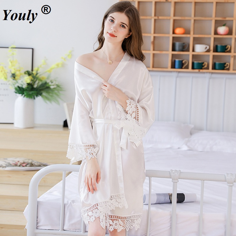 Ladies Dressing Gown Perspektive Sheer Long Robe Fluffy Chiffon
