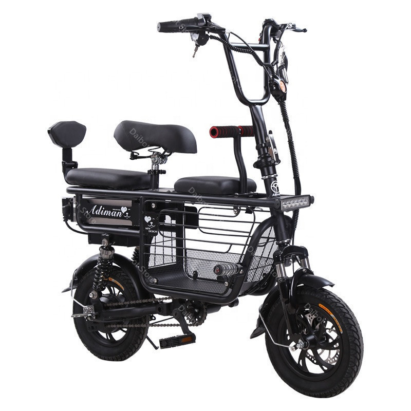 Daibot Electric Bike Bicycle Parent-child Two Wheels Electric Bicycles 48V 80KM Smart Portable Electric Scooter With Three Seats (21)