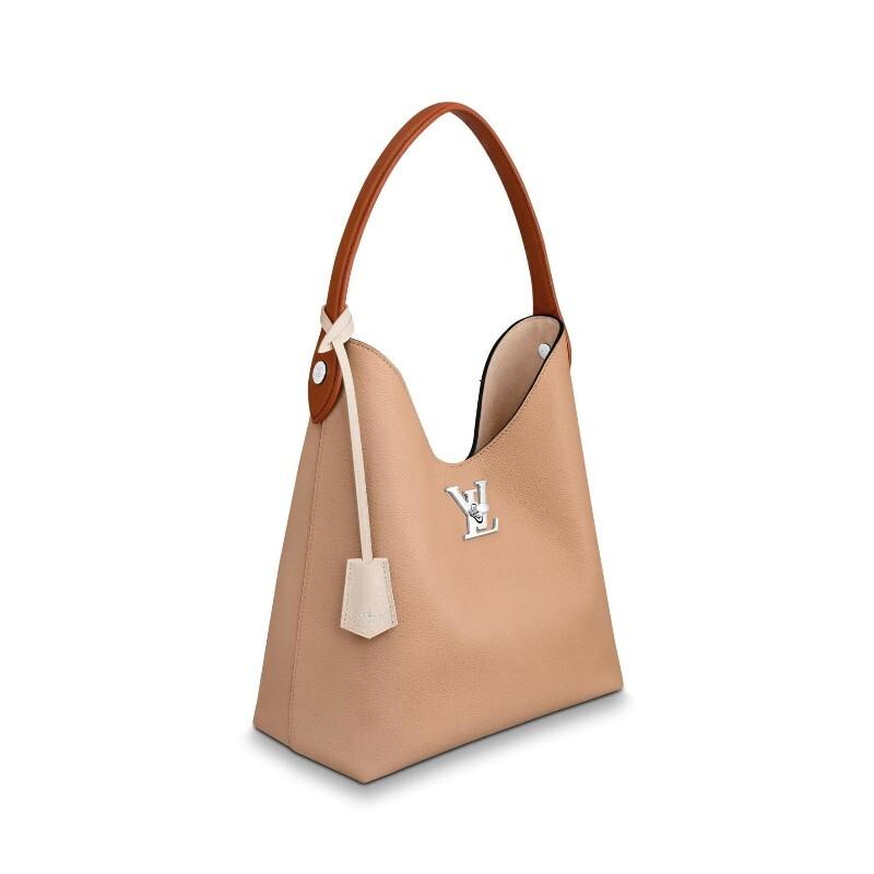 / handbag LOCKME HOBO handbag soft calf leather shoulder strap handbag M44330