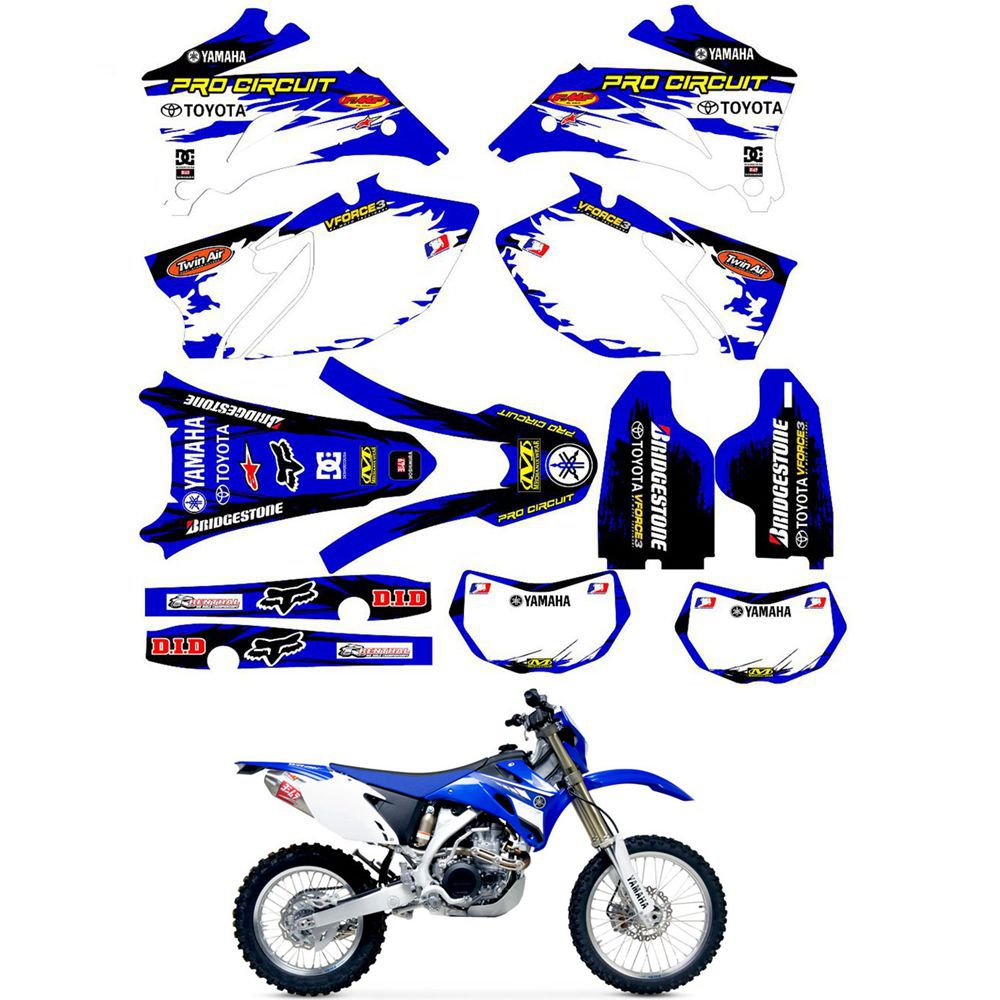 2020 For Yamaha Wr250f 2007 2014 Wr450f 2007 2011 Graphics Stickers Kit Decal Dirt Bike From Moto Pro 46 28 Dhgate Com