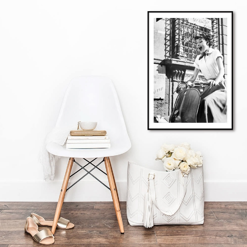 Audrey Hepburn Fashion Wall Art Prints