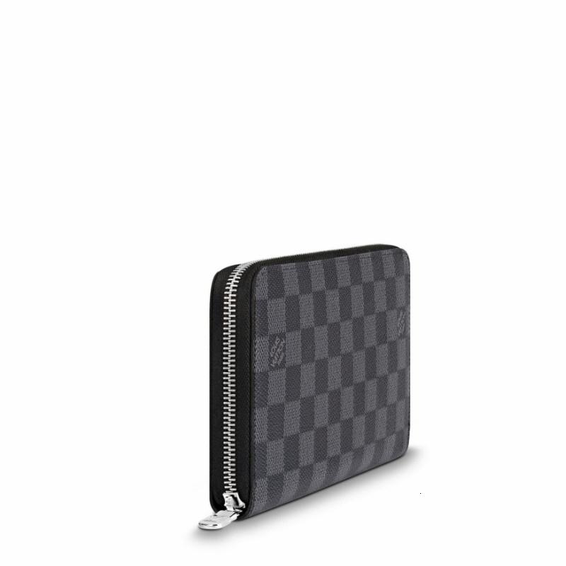 / ZIPPYORGANIZER black checkerboard men's Damier canvas long zipper wallet N60111