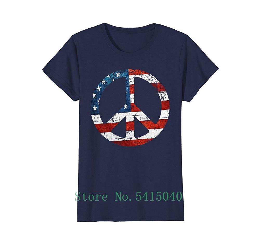 Vintage años 60 Patriótico signo de la Paz T-Shirt