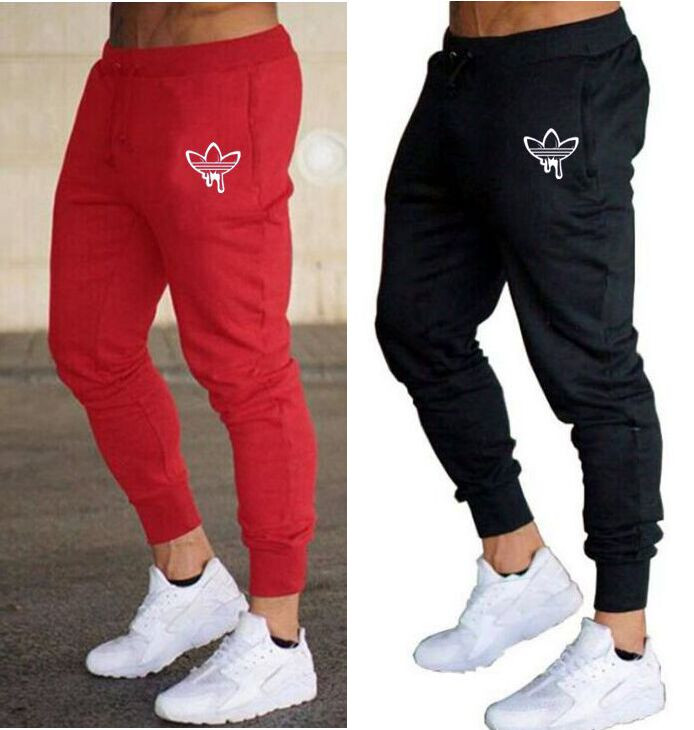 Mens Jogger Pants New Branded Drawstring Sports Pants Fitness Workout clothe Skinny Sweatpants Casual Clothing Fashion Pants Plus Size M-2XL