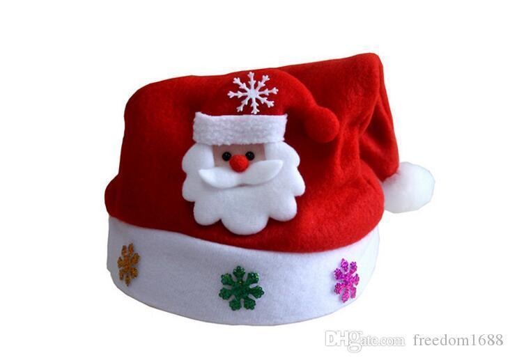 New Christmas Decoration hats High-grade Christmas hat Santa Claus hat Cute adults Christmas Cosplay Hats Free EMS