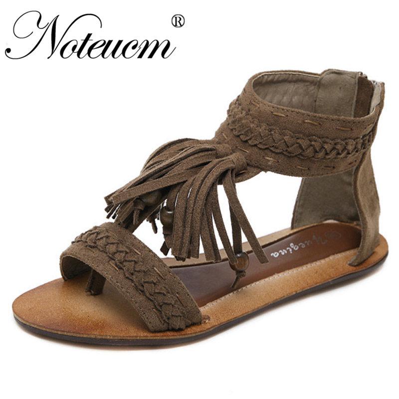 Black Fringe Sandals Online Shopping