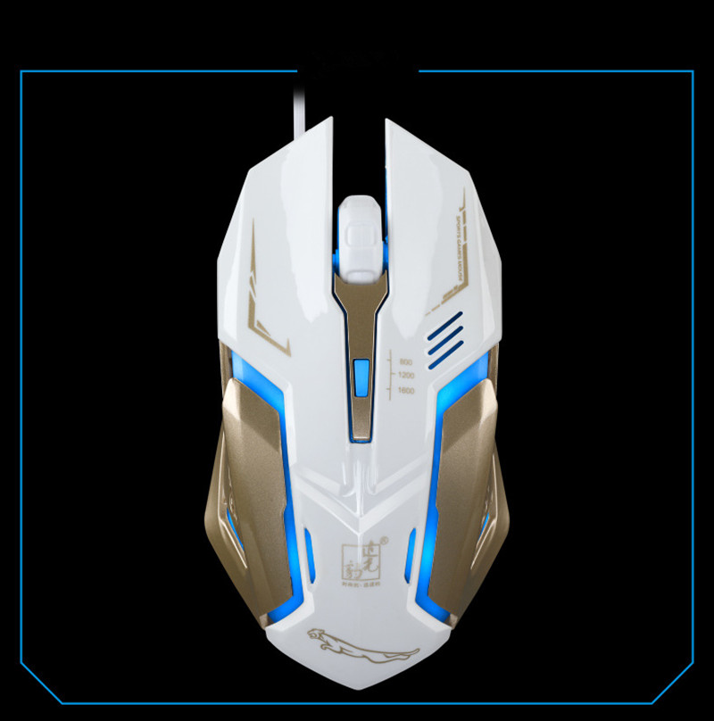 K1 mouse usb silent mute wired photoelectric luminous lol game Internet cafe steel mouse mice dhl free