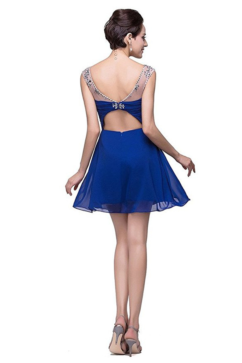 2019-In-Stock-Beaded-Royal-Blue-Red-Short-Mini-Homecoming-Prom-Party-Dresses-Sheer-Neck-Pleated (5)