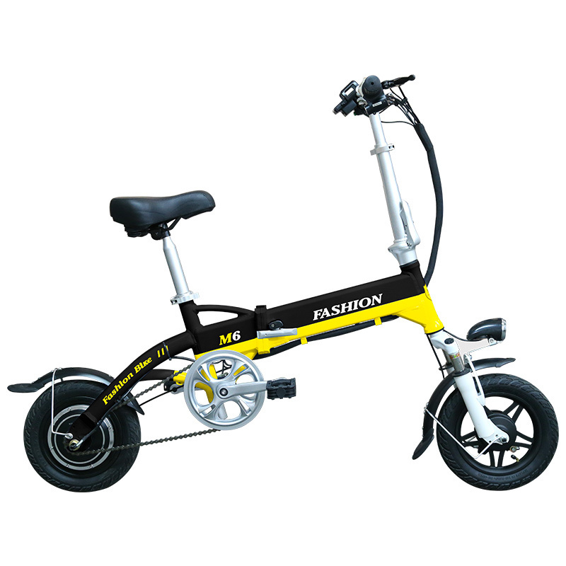 New Electric Bike 36V Two Wheels Electric Bicycle FrontRear Brake System WhiteBlueBlack Adult Folding Electric Scooter (7)