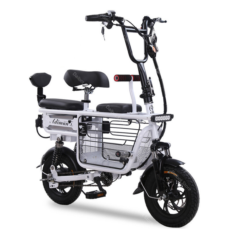 Daibot Electric Bike Bicycle Parent-child Two Wheels Electric Bicycles 48V 80KM Smart Portable Electric Scooter With Three Seats (19)