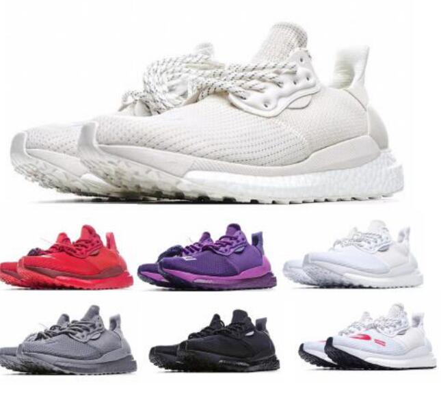 New Solar Hu Glide Human Made Greyscale PRD Pharrell Now is Her Time Pack White Ultraboost Mens Women Tenis Trainers Running Shoes Sneakers