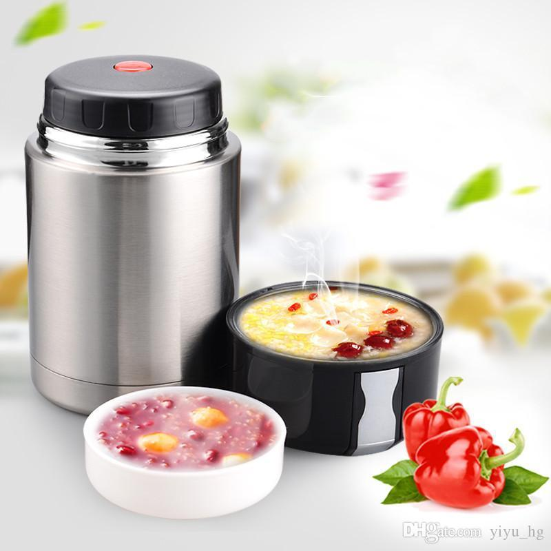 3 capa Termo Frasco gachas de avena Sopa Alimento Hot Lunch Box 2L Recipiente Plástico Nuevo