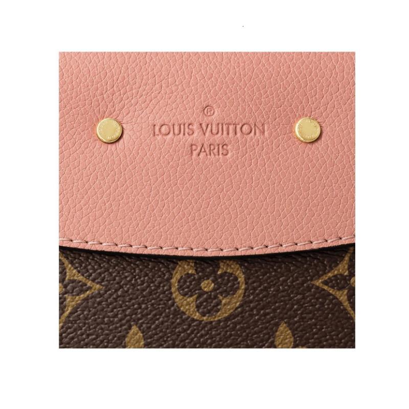 / SAINTPLACIDE peach pink fashion ladies can be sloping shoulder bag M44274