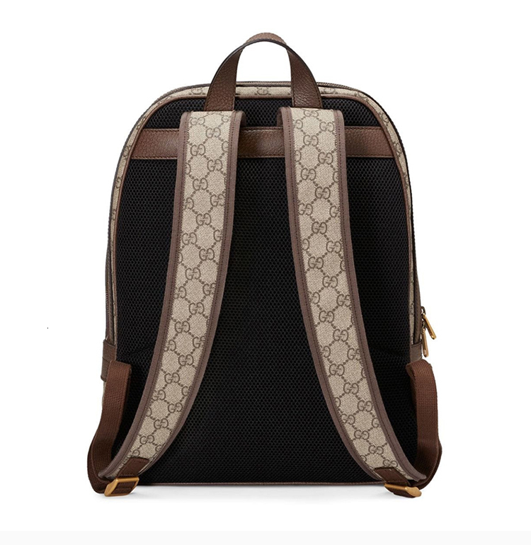 [Package tax]  /  19 spring and summer Ophidia series men's beige canvas medium GG printing backpack