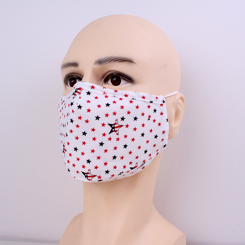 Washable Cloth Face Mask Reusable Dustproof Mascarilla Fashion Anti Smoke Respirator Adjustable Daily Protection Stars Stripe Floral 5lmc D2