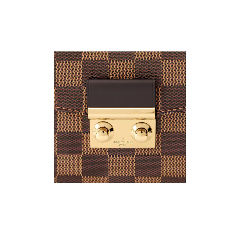 /  CroisetteDamierEbene brown checkerboard dual-use bag canvas / with leather N53000