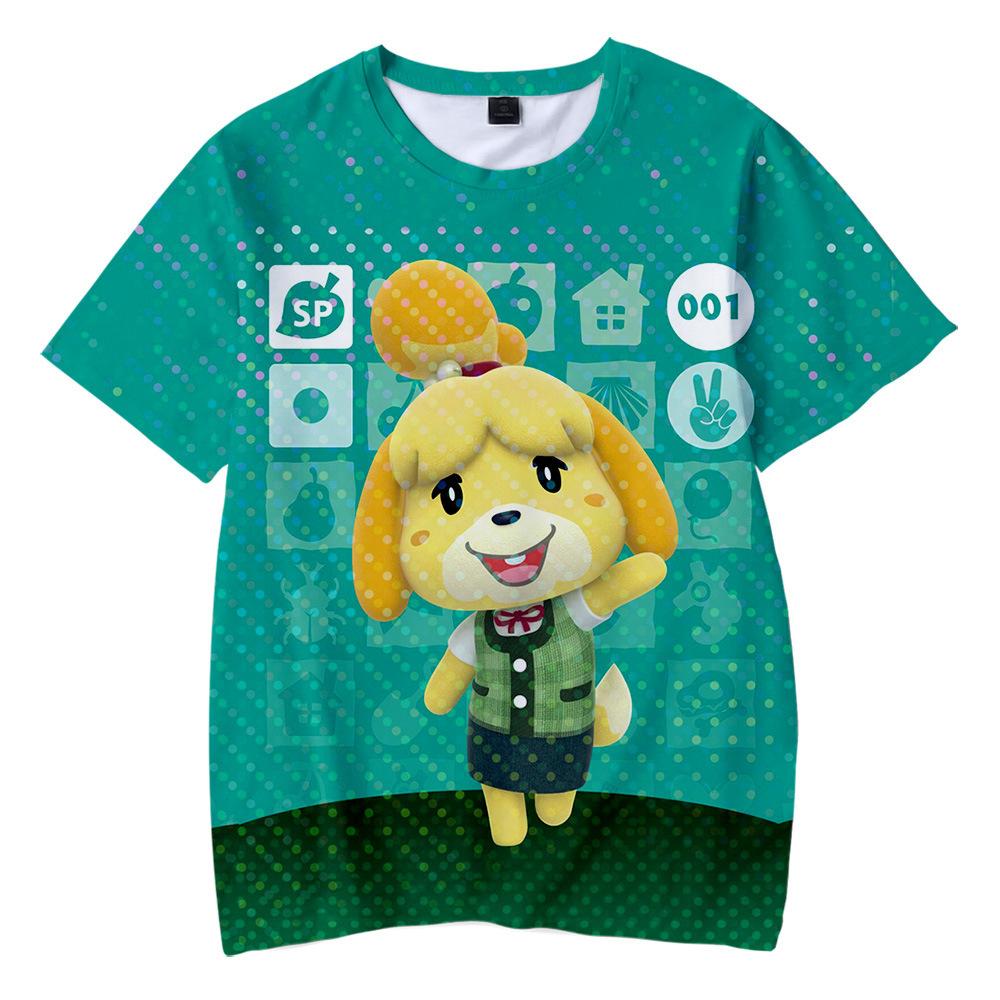 T-Shirt A Manica Corta Girocollo Estiva da Donna T-Shirt con Stampa 3D Animal Crossing T-Shirt Corta Pullover