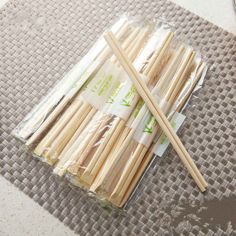100 unidades Paquete de 100 palillos desechables de madera de bamb/ú envueltos individualmente