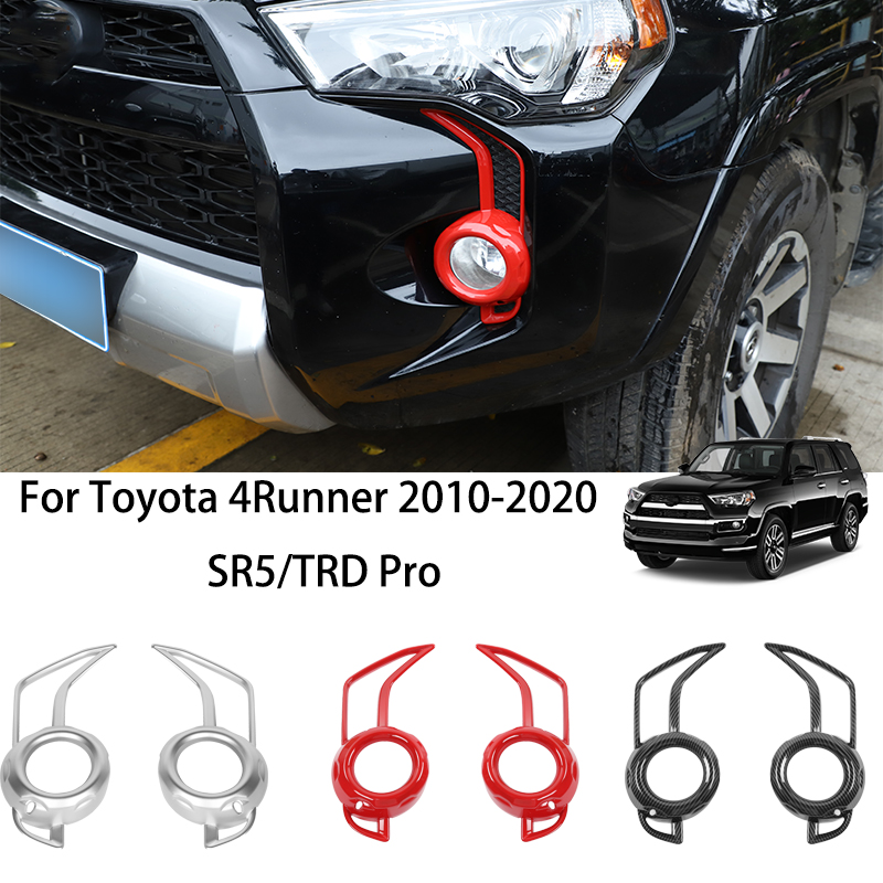 Carbon Fiber ABS ABS Front Fog Light Trim Fit for Toyota 4Runner SR5//TRD Pro 2014-2020 Car Parts