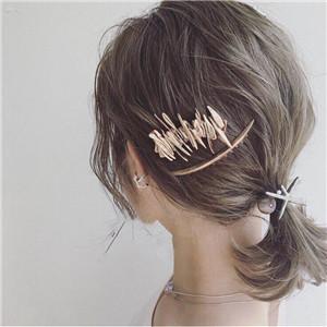 AOMU-Japan-Women-Hollow-Bowknot-Hair-Combs-Metal-Gold-Silver-Color-Tassel-Hairpin-Hair-Accessories-Geometric