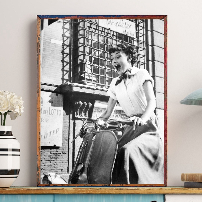 Audrey Hepburn Fashion Print Living Room Decor