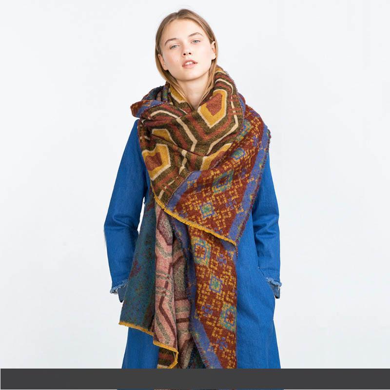 TDynasty Cool Wolf Warm Shawls Scarves Printing Lightweight Scarf Shawl Winter Scarf Warm Soft Multi-Purpose for Adult Women Gifts
