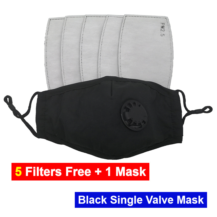 PM2.5 Filters Free With 1 Mask DHL Adult Cotton Mask Reusable Washable With Actiivated Carbon Filter Face Mask