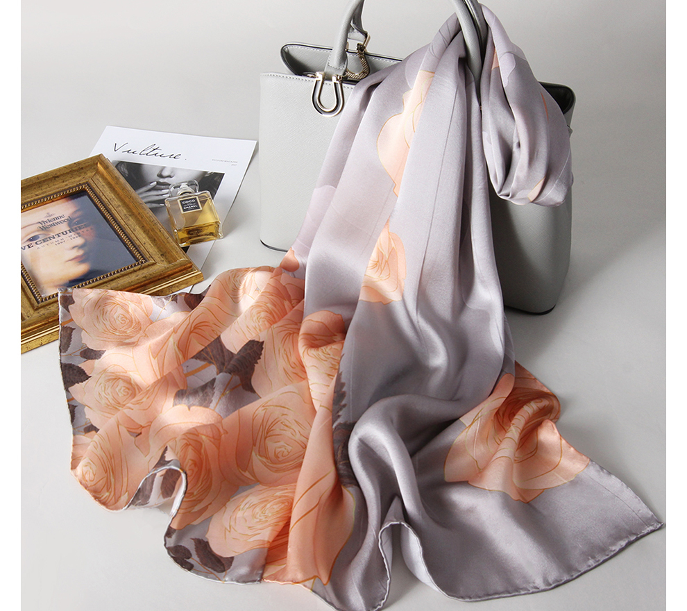 2 Packs Luxury Satin Silk Hair Scarf Face Cover For Women Bandana Scarf