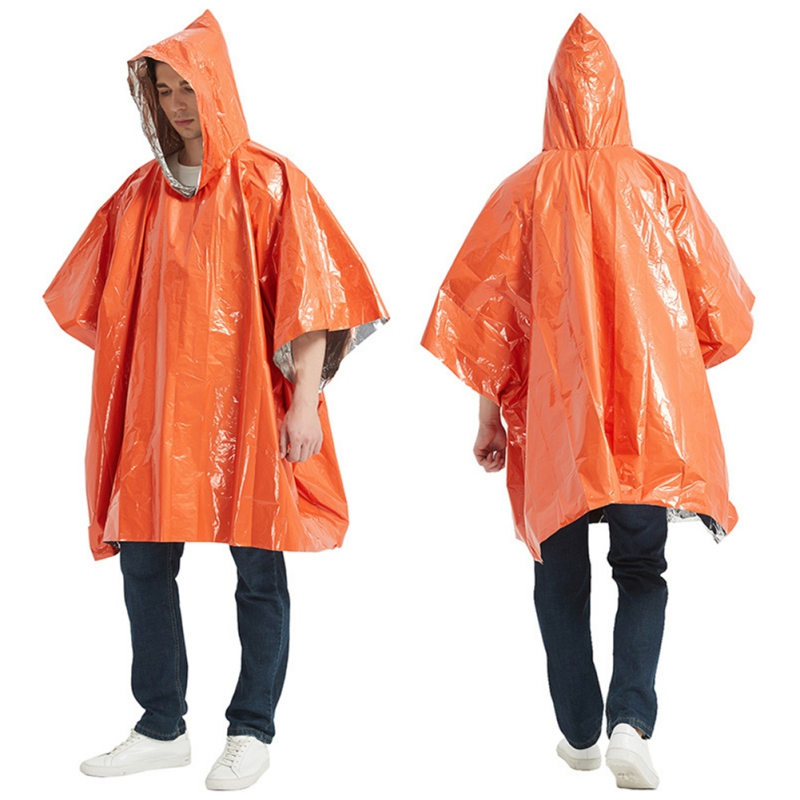 Large Orange Emergency Thermal Blanket 210cm x 130cm Thicker Stronger Reusable