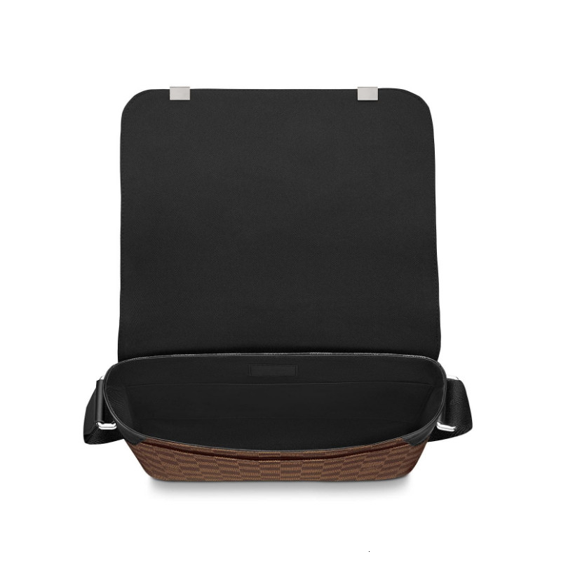 /  DISTRICT small brown plaid men's Messenger bag N41031