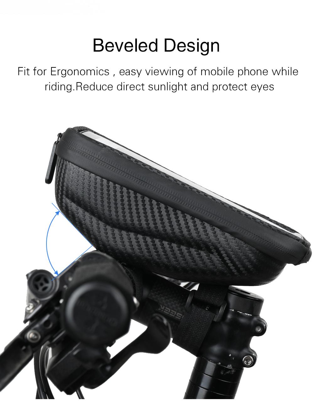 Rhinowalk Waterproof 6.5 Inch Phone Holder EVA Hard Shell Bike Bag