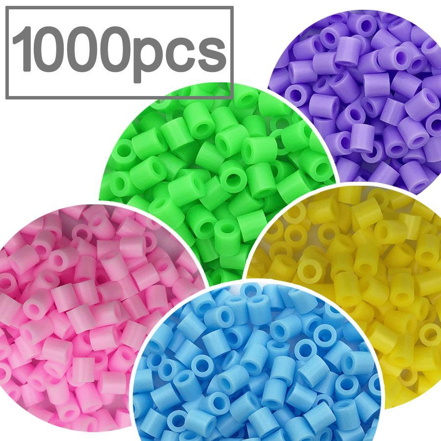 1000Pcs Bag //30 colors 2.6mm Mini Iron Fuse Hama Perler Beads Kids DIY kit Set