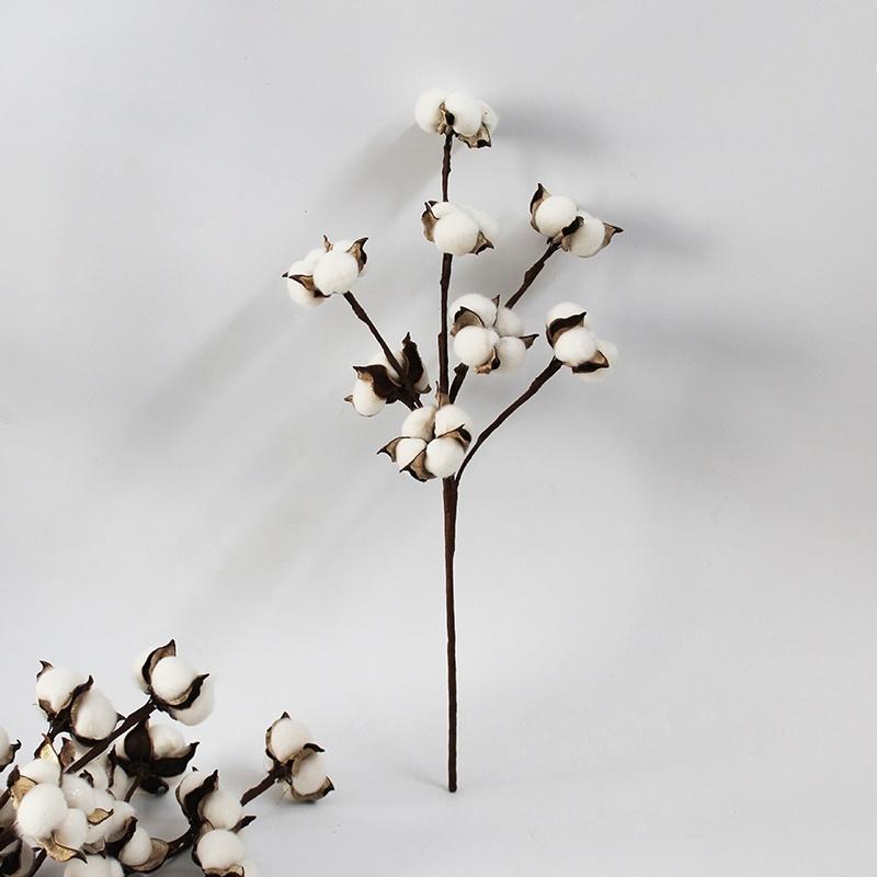 cotton branch dried cotton balls fall wreath cotton dried cotton stems cotton ball Christmas wreath Cotton balls for decor