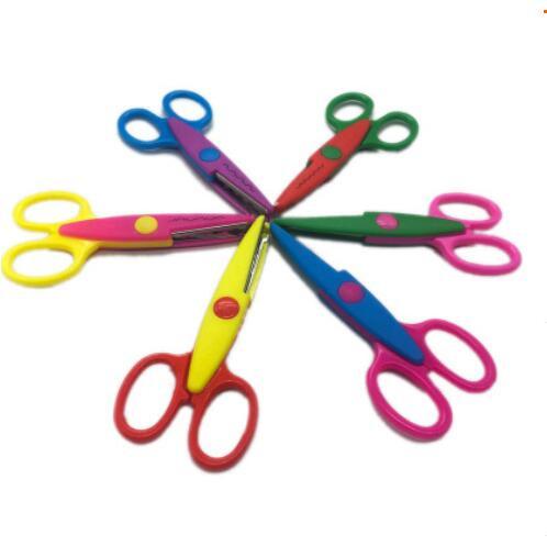 3 un Tijeras de seguridad de los Niños Niños Craft Arte Creativo seguro Niño Escuela