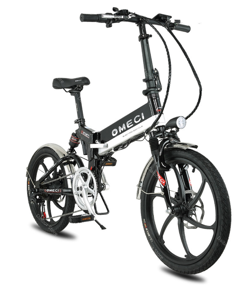 20 Inch Folding Electric Bicycle 2 Wheels Electric Bicycles Spoke Wheel Mini Lightweight Electric Bikes Adults 350W 48V 35KMH (5)