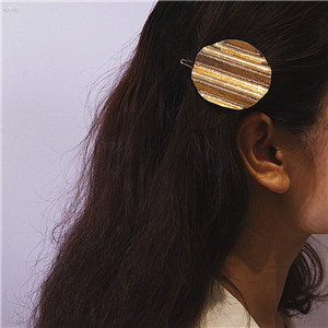 AOMU-Personality-Metal-Snap-Hair-Clips-Gold-Sliver-Hairpins-Women-Hairclips-Big-Round-Wave-Tin-Foil