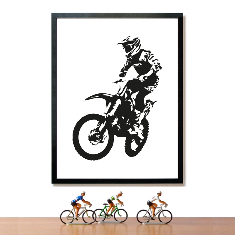 Motocross Rider Painting Home Decor